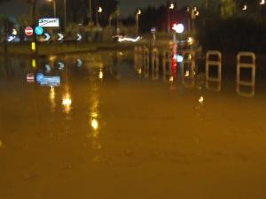 situazione alle ore 22 quando l'acqua stava già cominciando a scemare