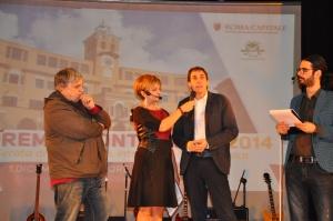 i saluti del presidente del consiglio municipale Riccardo Corbucci
