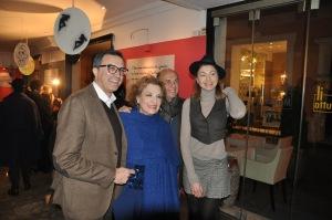 Da sinistra: Nino Graziano Luca, Fioretta Mari, Claudia Andreatti