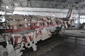 I resti del Dc 9 Itavia nel Museo per la Memoria di Ustica a Bologna