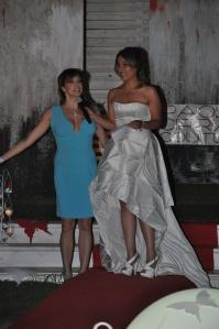 L'attrice Elena Russo, madrina della serata, con Alessia Pellegrino