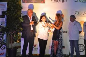 L'onorevole Gilberto Casciani, la chef Laura Marciani e Camilla Nata