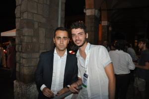 Simone Proietti - consigliere M5S del Terzo Municipio - con Luigi Di Maio
