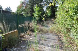 Il vialetto di accesso all'asilo visto da altra angolazione